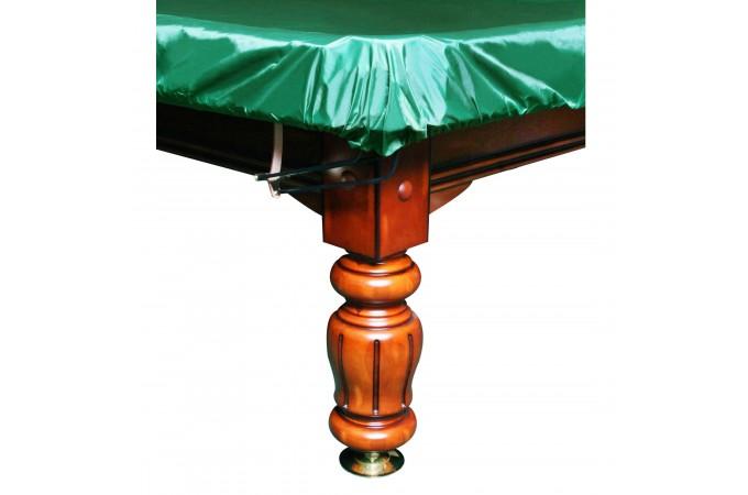 Чехол покрывало для бильярда Стандарт 7фт ПВХ влагостойкое резинка на лузах зелёное