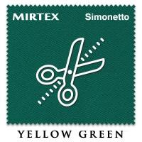 Отрез 0.3 х 2м бильярдного сукна Simonetto 920 Yellow Green (Mirteks)