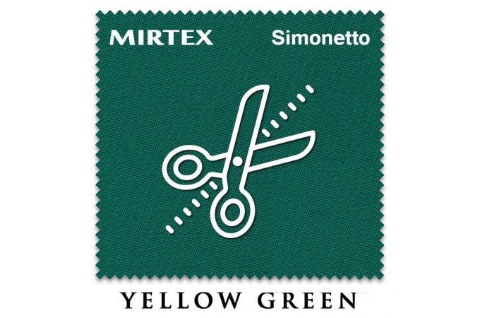 Отрез 0.3 х 2м бильярдного сукна Simonetto 920 Yellow Green (Mirteks)