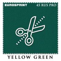 Отрез 2.2 х 1.98м бильярдного сукна  Eurosprint 45 Rus Pro Yellow Green