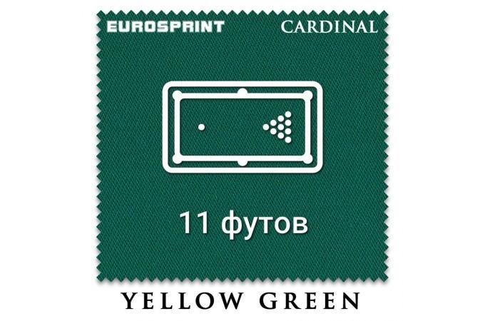 Отрез бильярдного сукна на стол 11 футов (4.7х1.98м) Eurosprint Cardinal Yellow Green