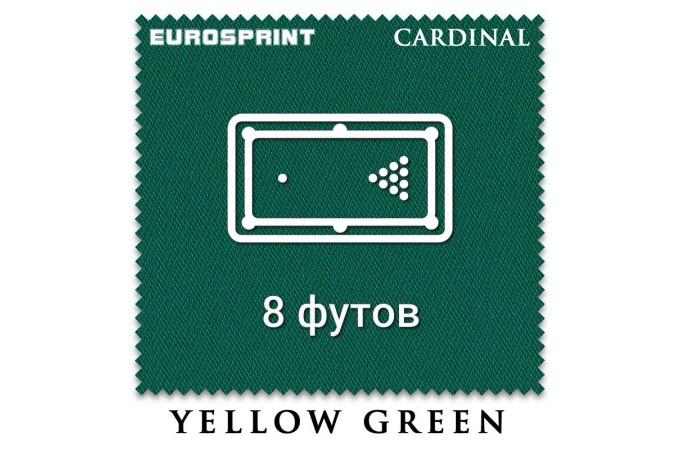Отрез бильярдного сукна на стол 8 футов (3х1.98м) Eurosprint Cardinal Yellow Green