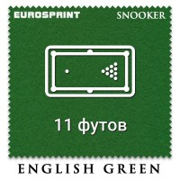 Отрез бильярдного сукна для снукера на стол 11 футов (4.7х1.97м) Eurosprint Snooker 1190 Yellow Green