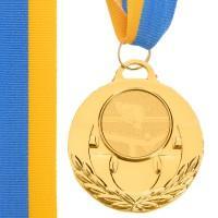 Медаль наградная для бильярда AIM с лентой (1 место, золото)  ø5см
