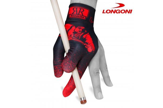 Перчатка Renzline Billiard Player Velcro черная/красная левая безразмерная