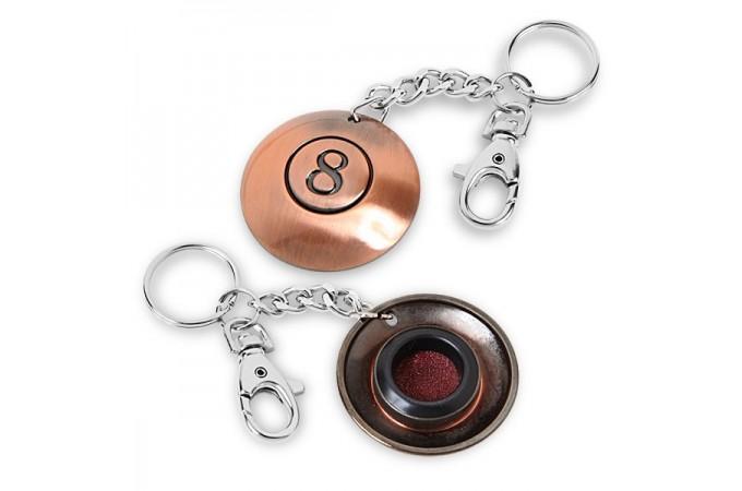 Брелок-инструмент (махровка) для обработки наклейки на цепочке №8 блистерная упаковка