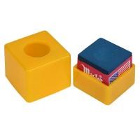 Пенал для мела пластиковый (желтый)