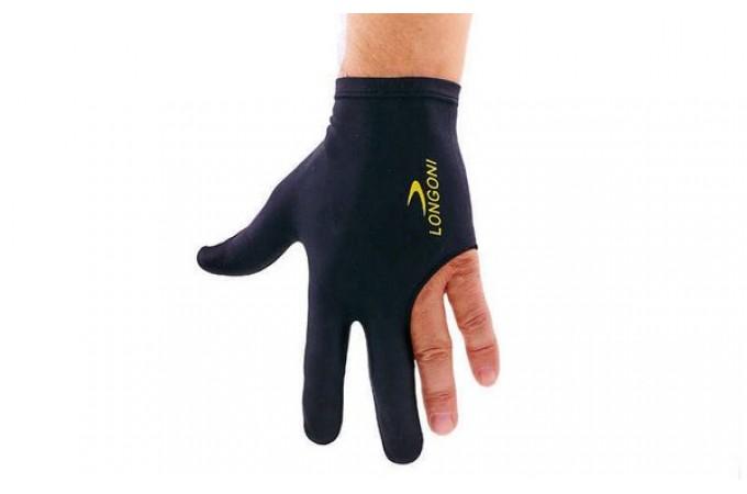 Перчатка черная с надписью Longoni
