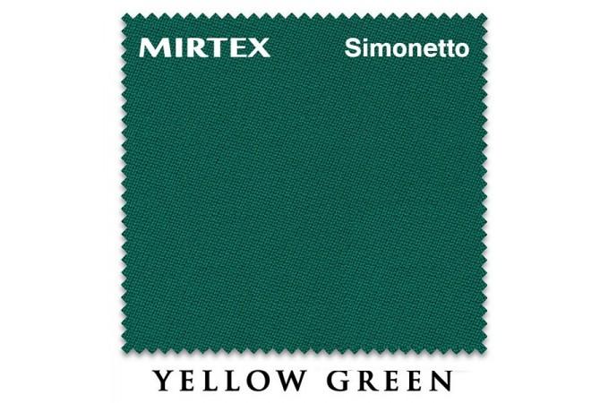 Бильярдное сукно Simonetto 920 200см Yellow Green (Mirteks)