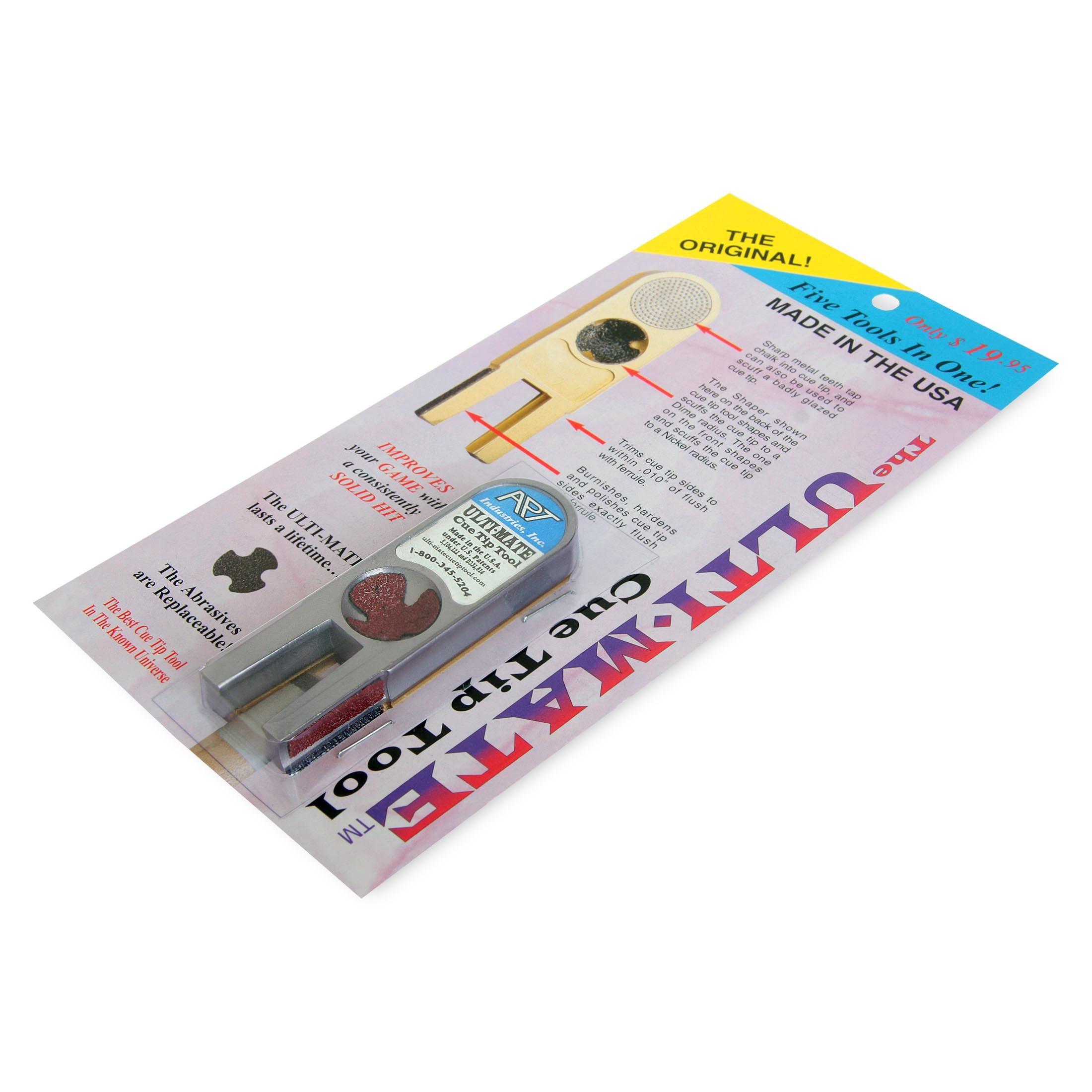 Инструмент для обработки наклейки Ulti-Mate Cue Tip Tool серебро