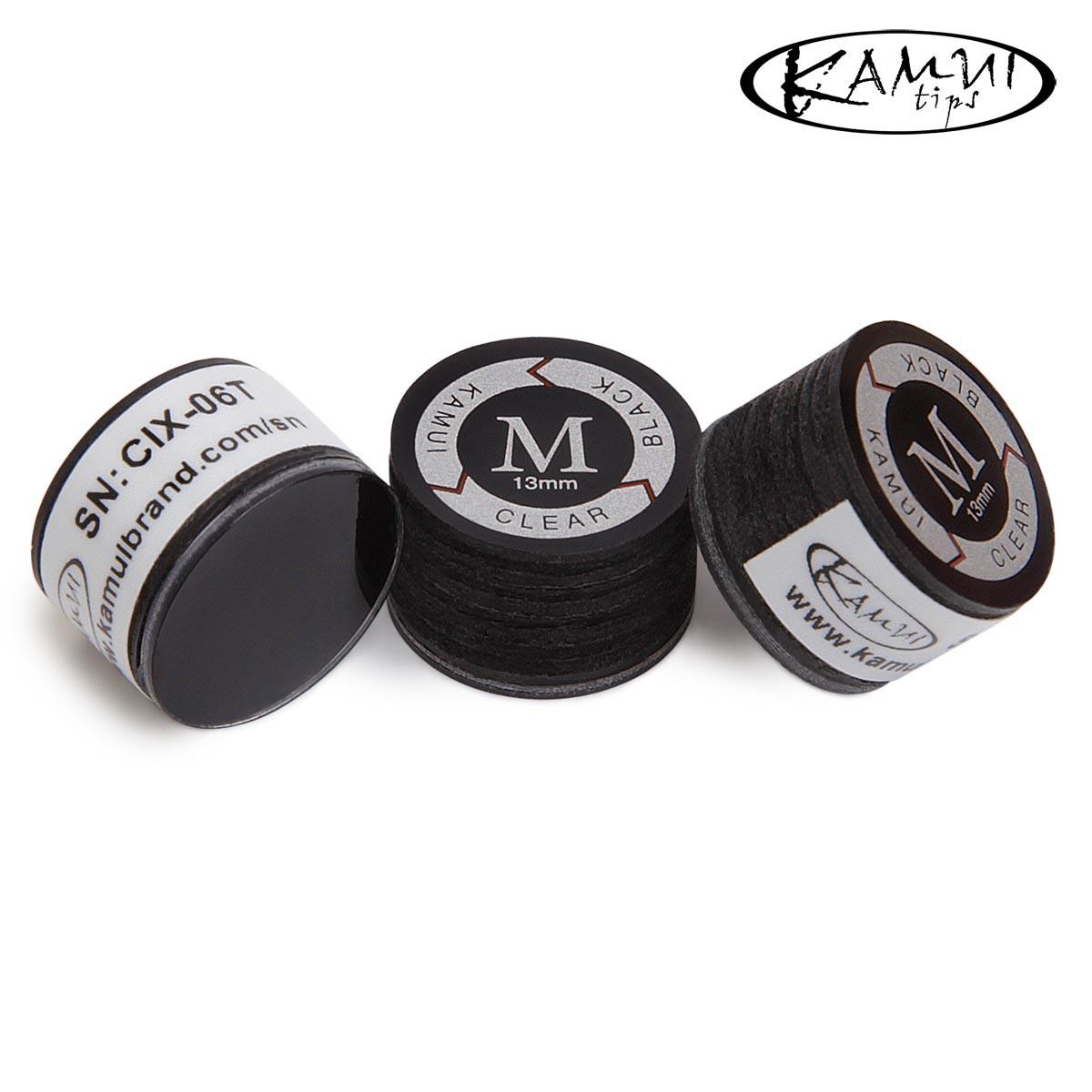 Наклейка для кия Kamui Clear Black ø13мм Medium 1шт.