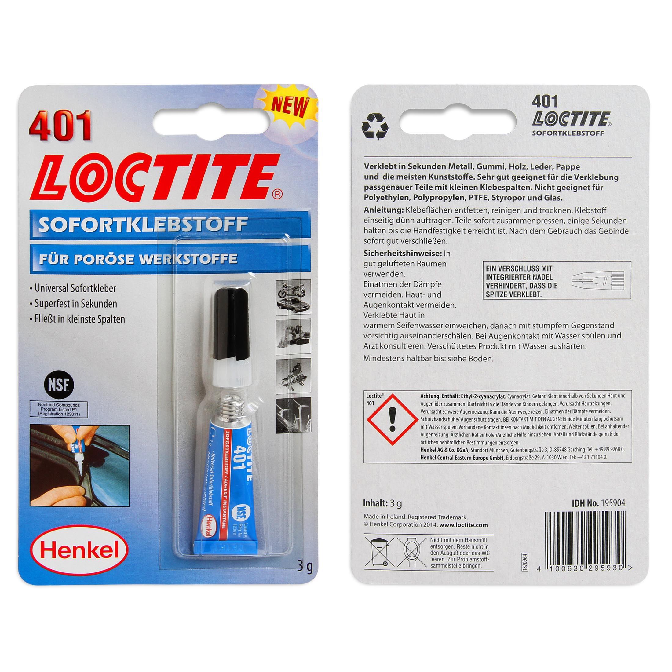 Клей для наклеек Loctite 401 3г