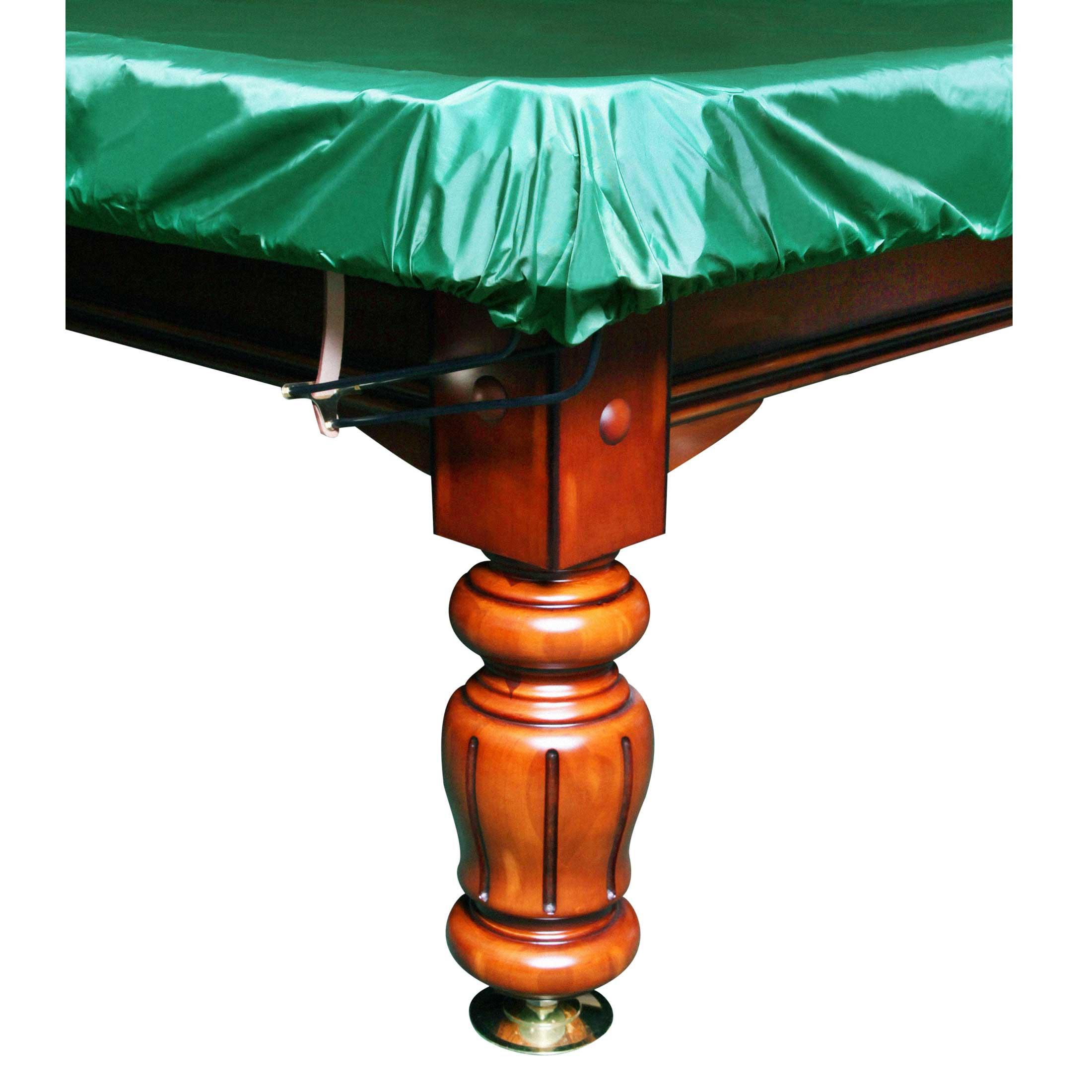 Покрывало-чехол для бильярда Стандарт 12фт ПВХ влагостойкое резинка на лузах зелёное