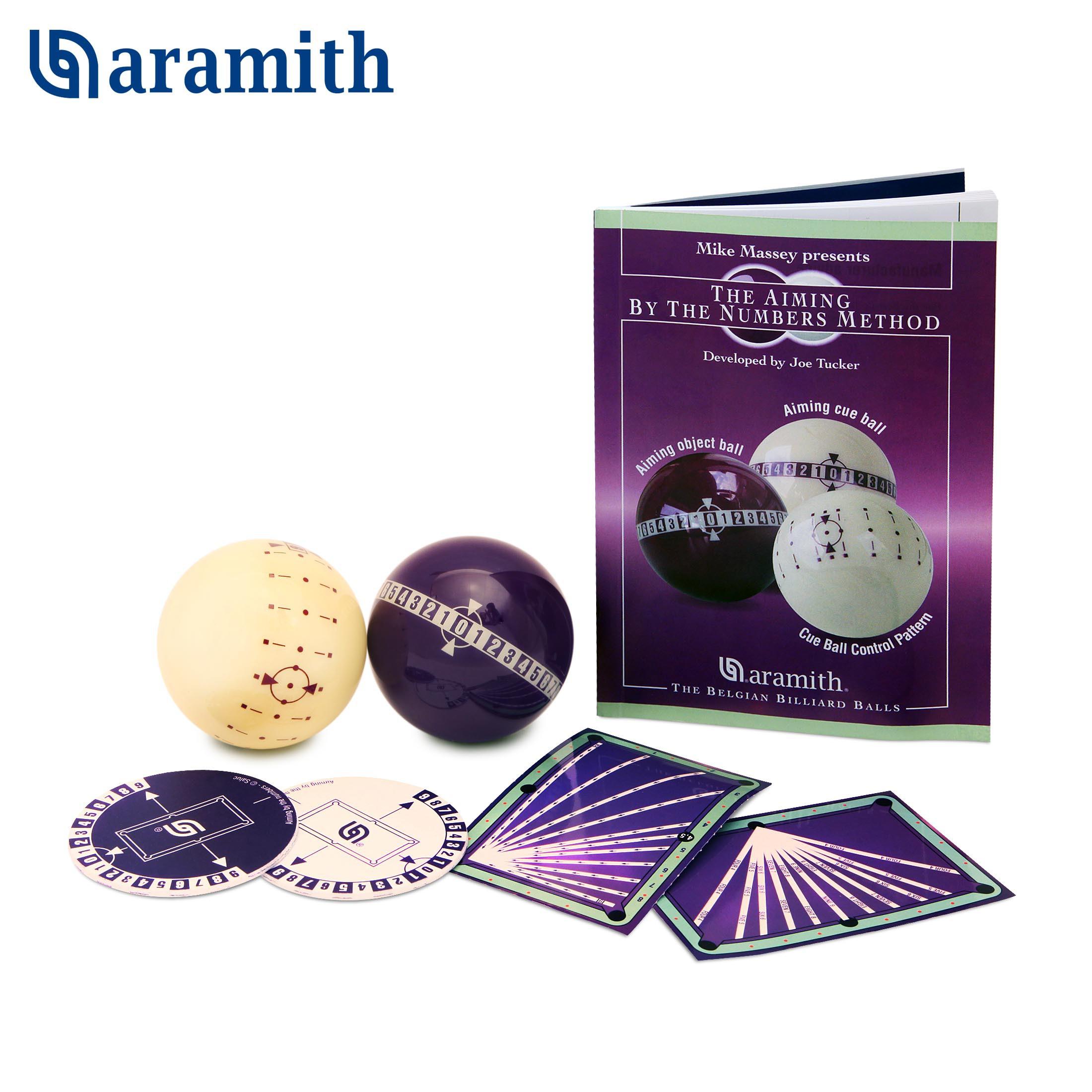 Набор тренировочный для пула Aramith Aiming by the Numbers Pool ø57,2мм 2шара/блистер