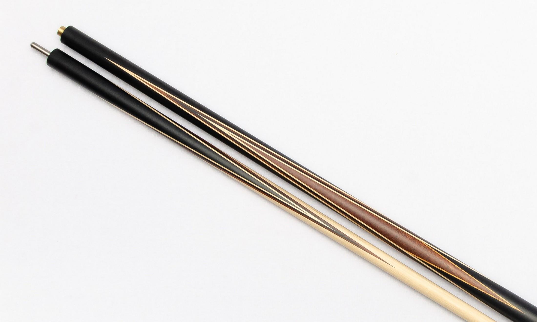 Бильярдный кий Николаенко Комбинированный Черный граб - Палисандр, длинный запил