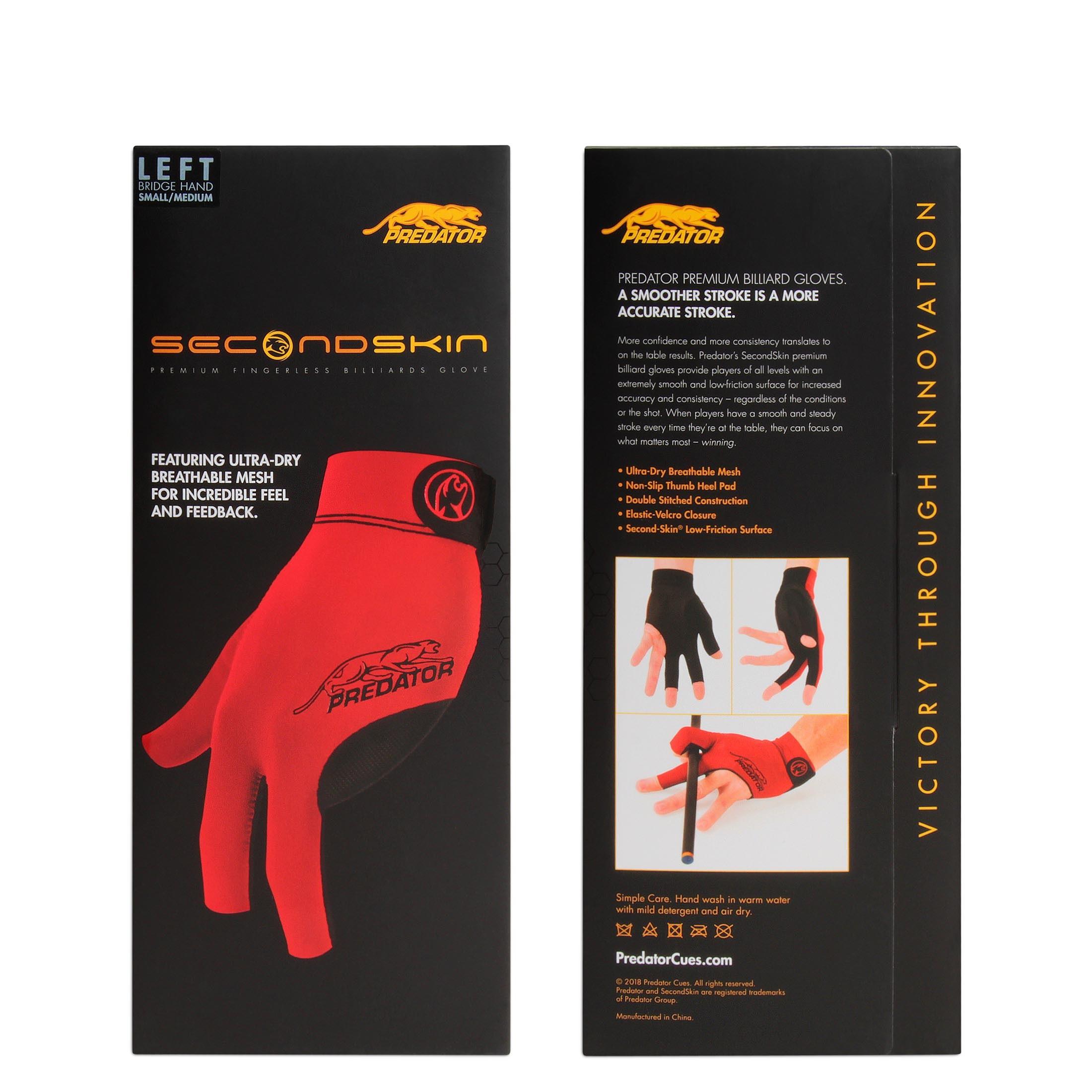 Перчатка Predator Second Skin Red S/M