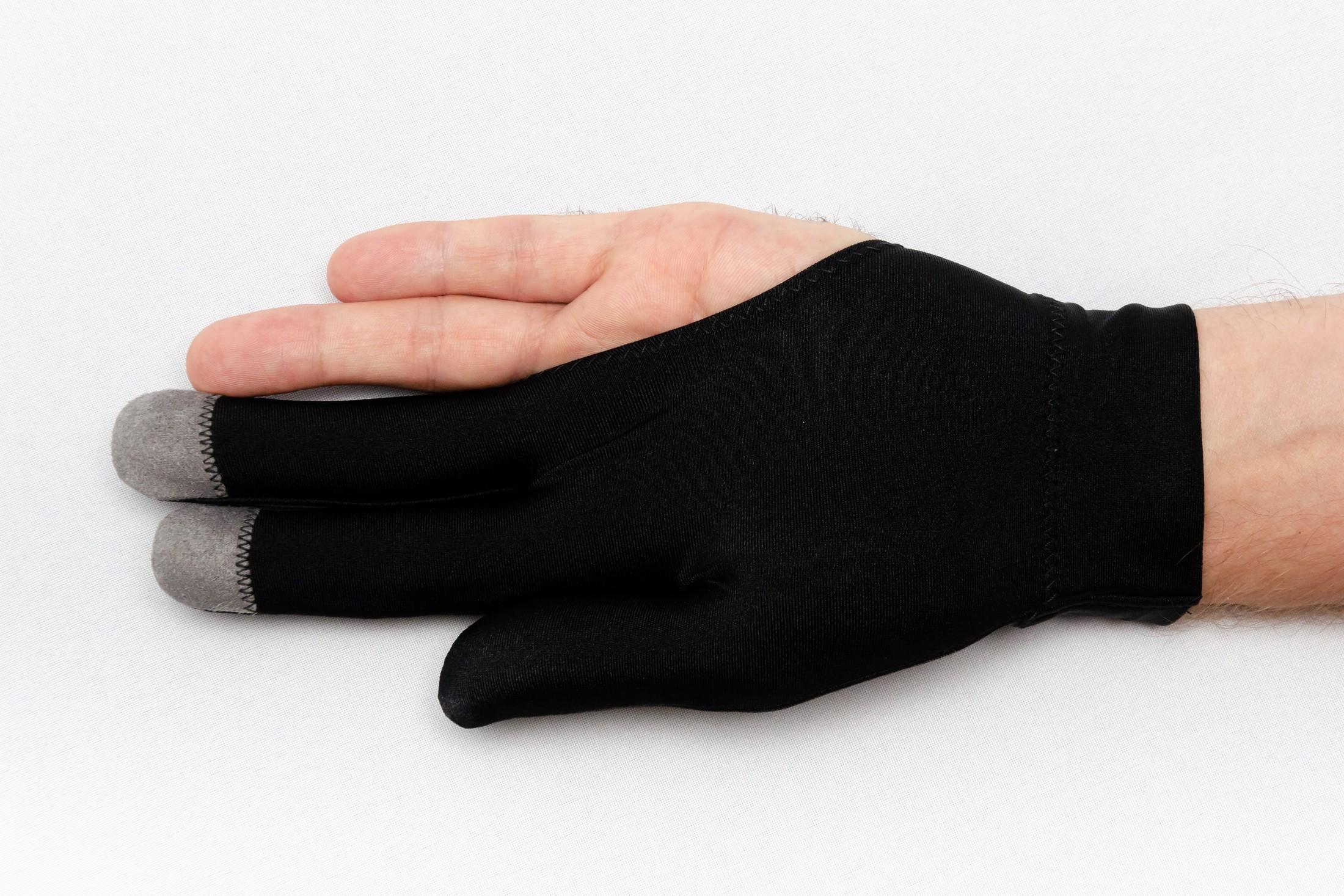 Перчатка Skiba Vistory вставки на пальцах черная M/L