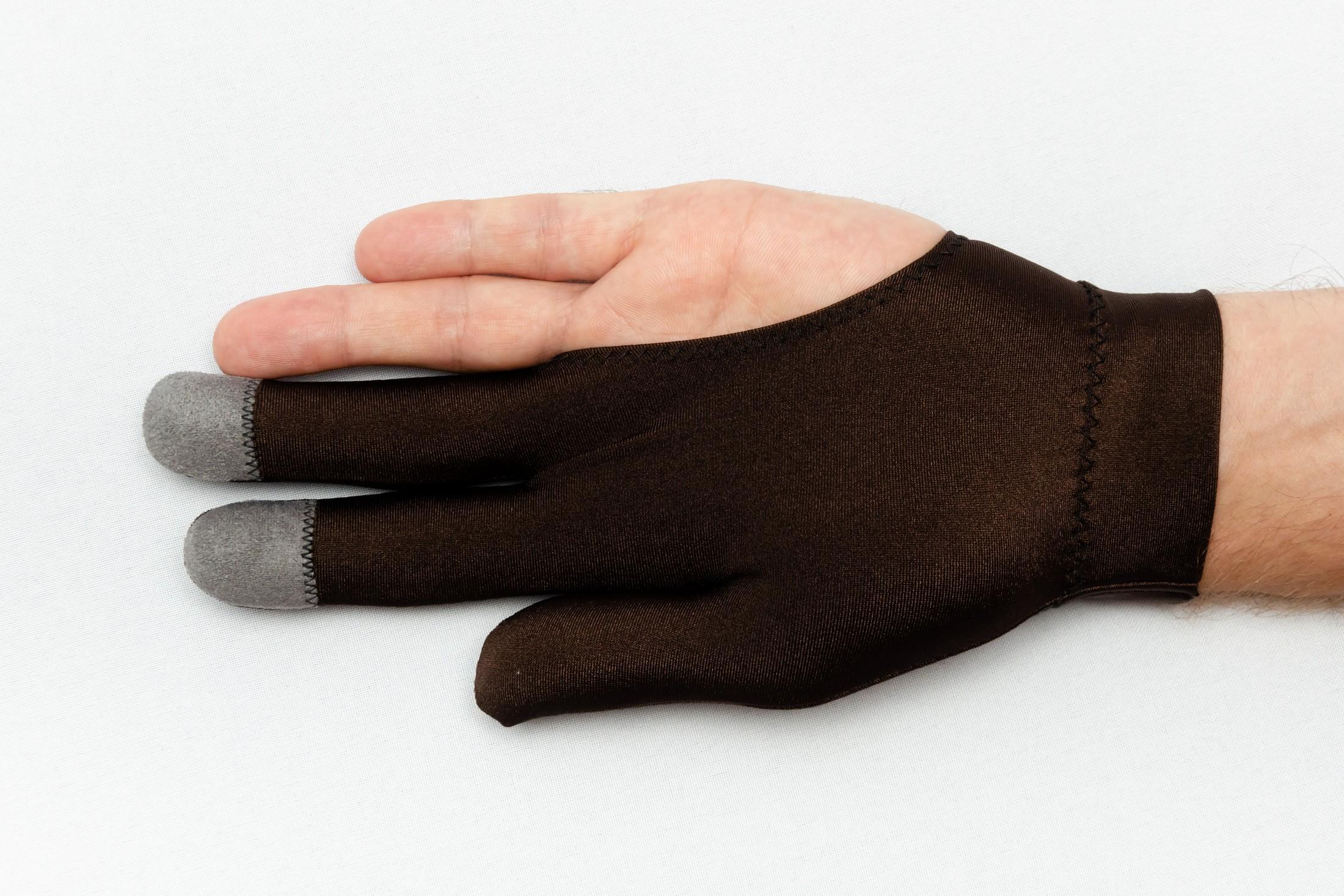 Перчатка Skiba Victory вставки на пальцах коричневая M/L