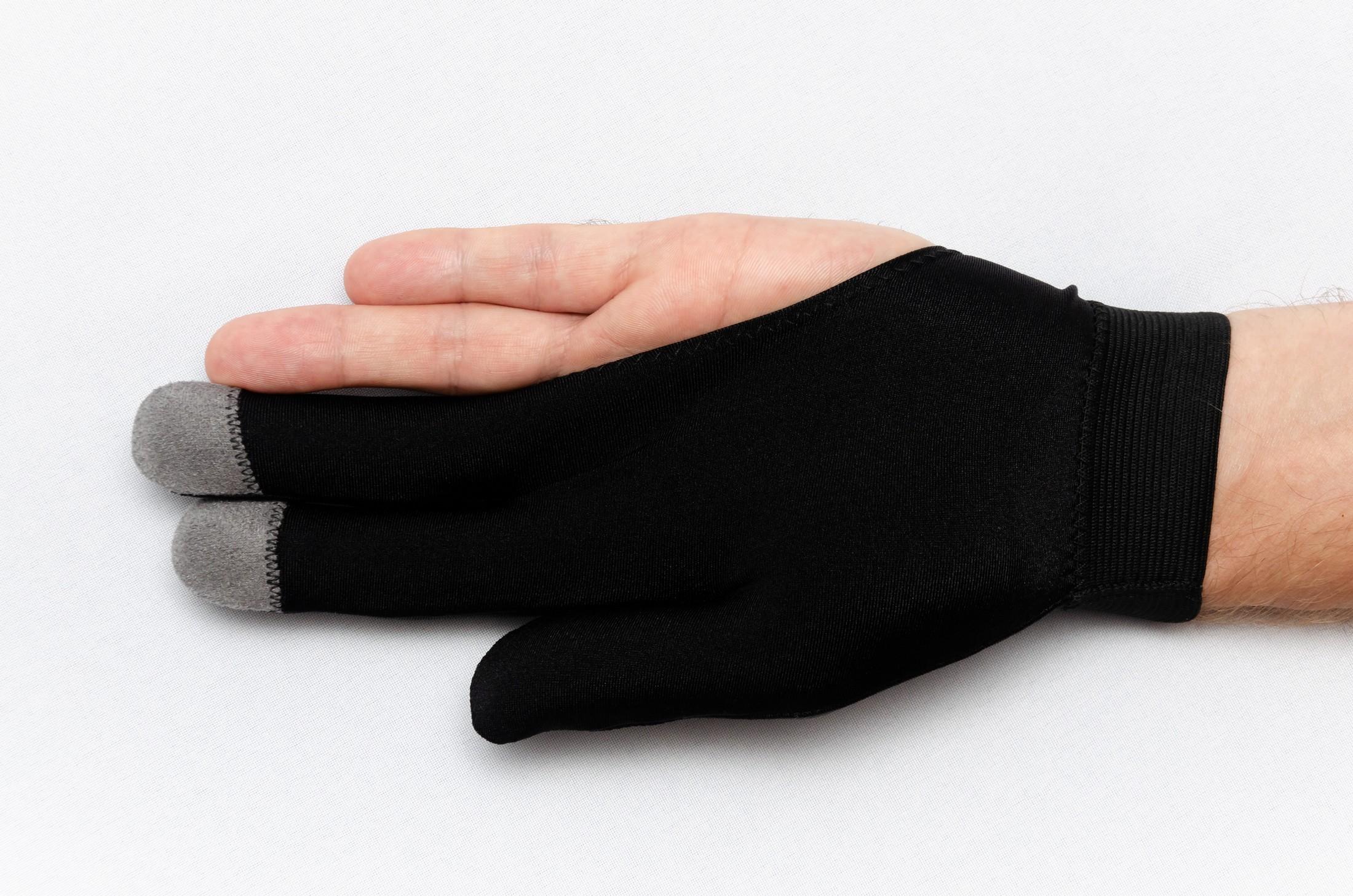 Перчатка Skiba Premium вставки замши черная M/L
