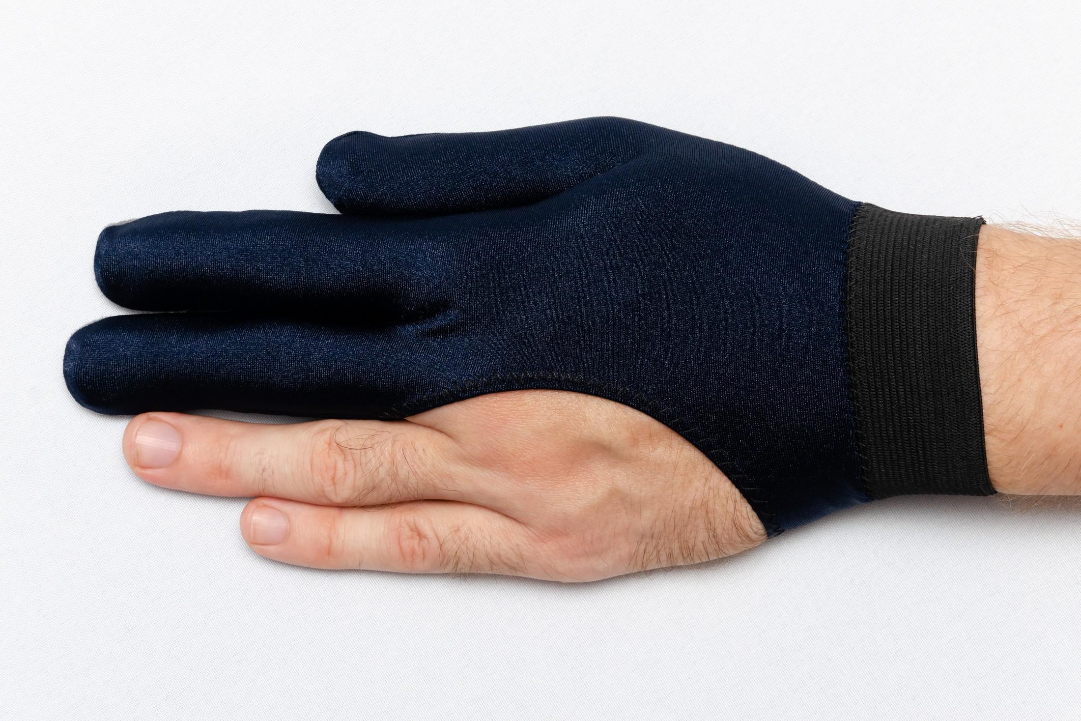 Перчатка Skiba Premium вставки замши синяя M/L
