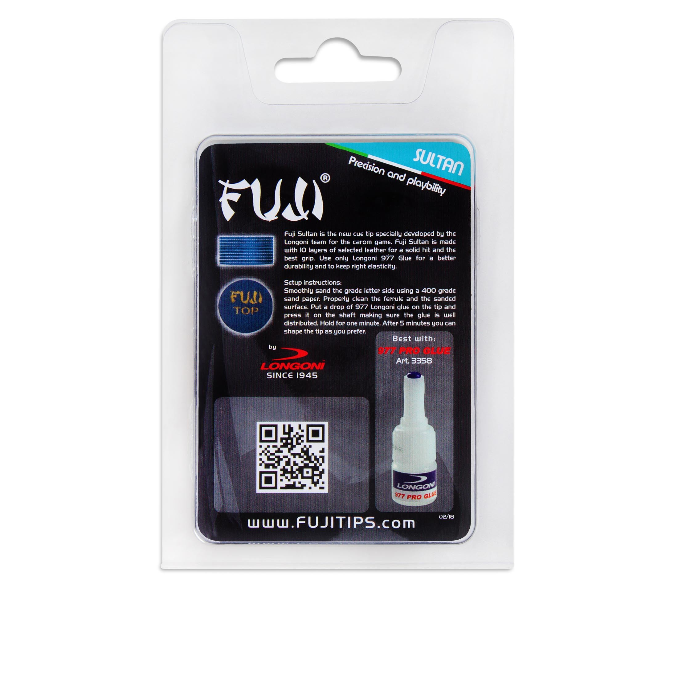 Наклейка для кия Longoni Fuji Sultan ø14мм Soft 1шт.