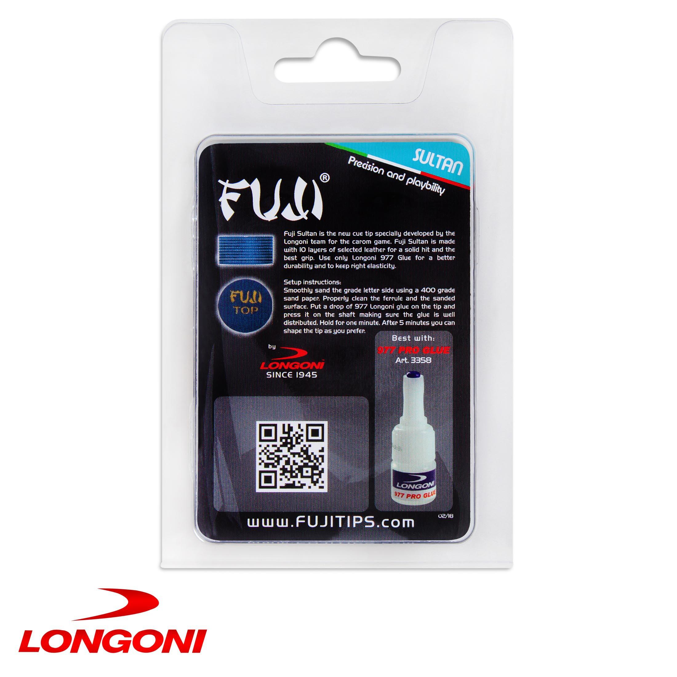 Наклейка для кия Longoni Fuji Sultan ø14мм Hard 1шт.