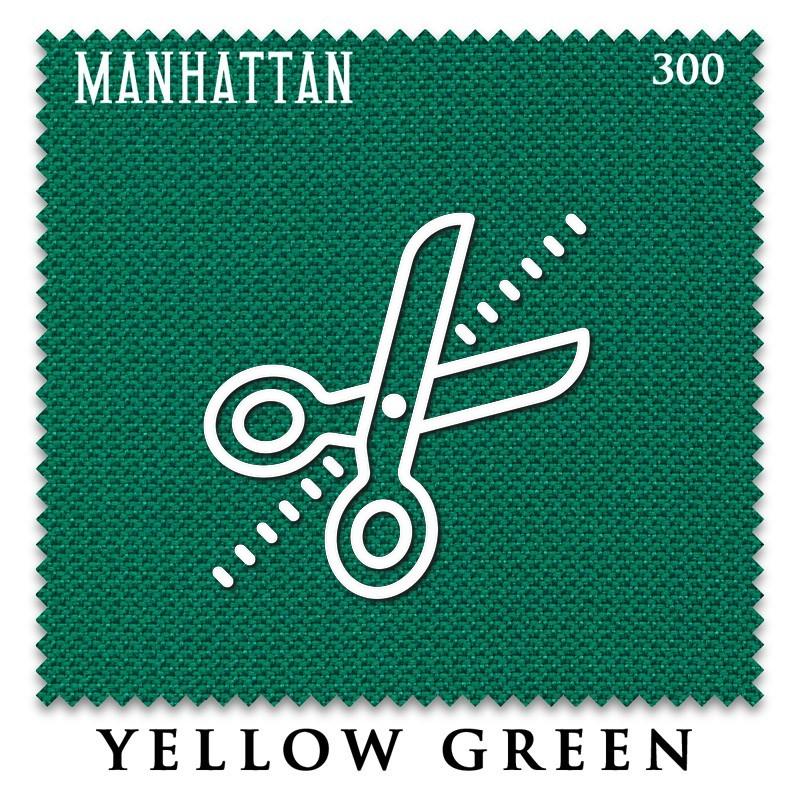 Отрез 0.3 х 1.95м бильярдного сукна Manhattan 300 Yellow Green