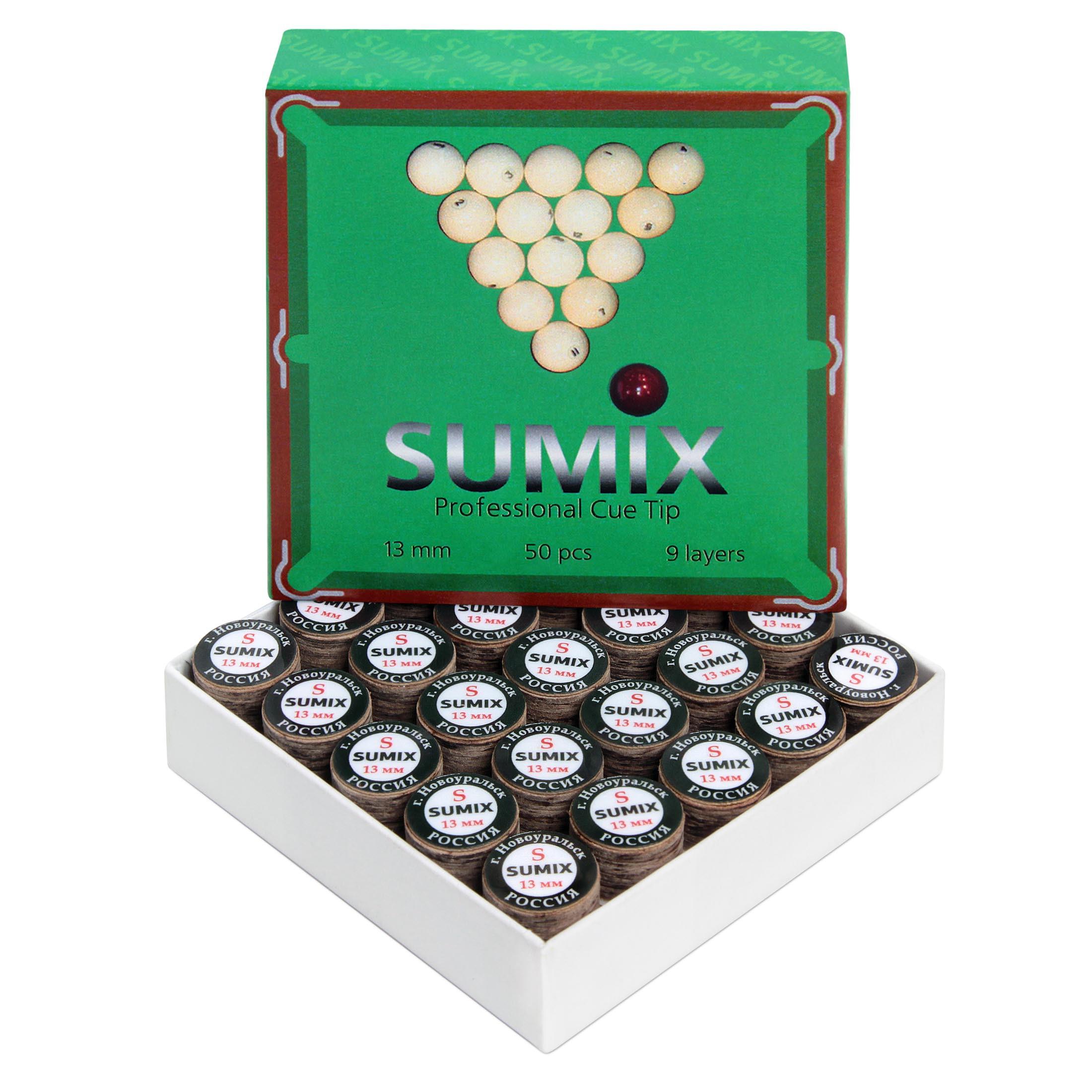 Наклейка для кия SUMIX ø13мм Soft с фиброй 1шт.