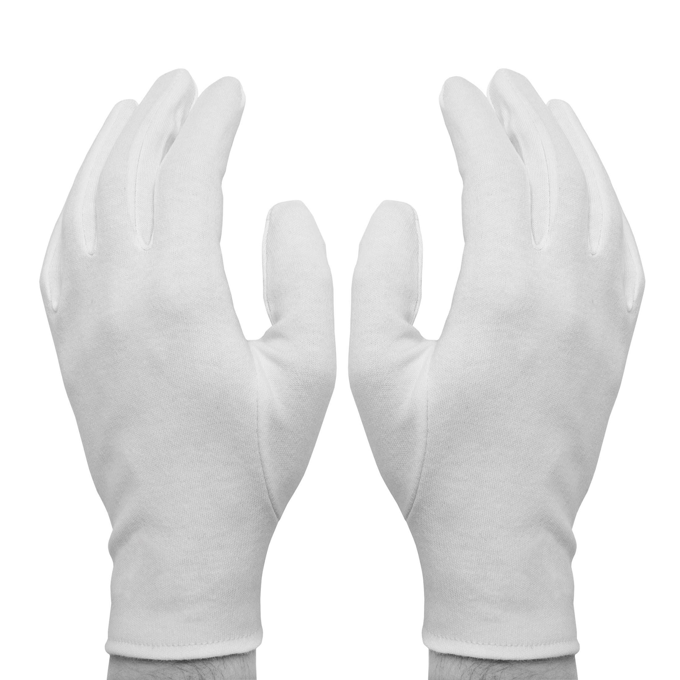 Перчатки Skiba Судейские пятипалые белые 2шт. L