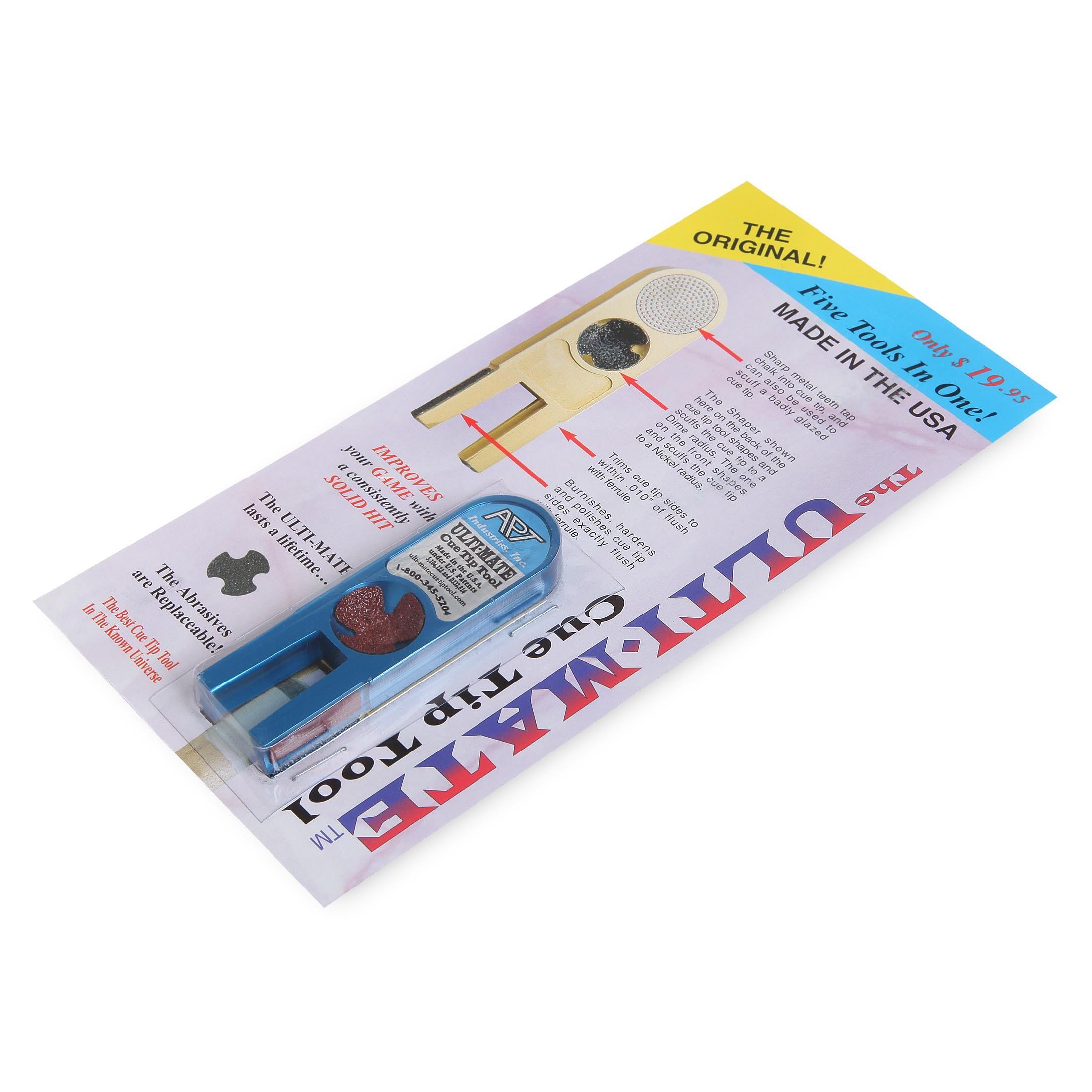 Инструмент для обработки наклейки Ulti-Mate Cue Tip Tool синий