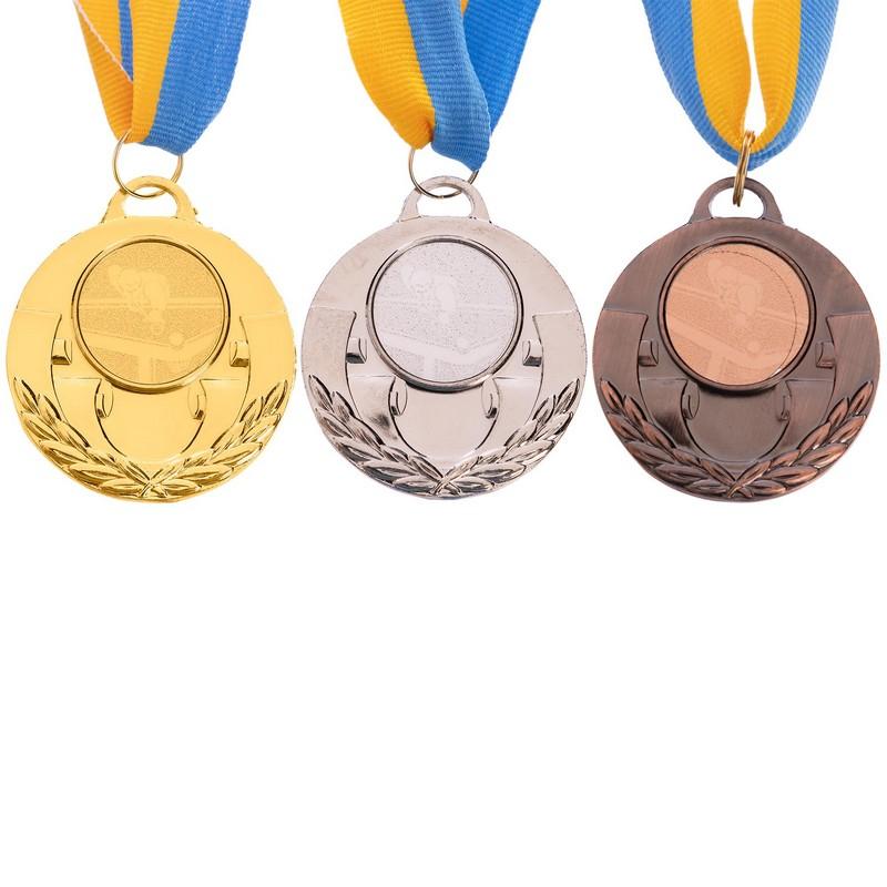Комплект медалей наградных AIM с лентой (1, 2, 3 место)  ø5см