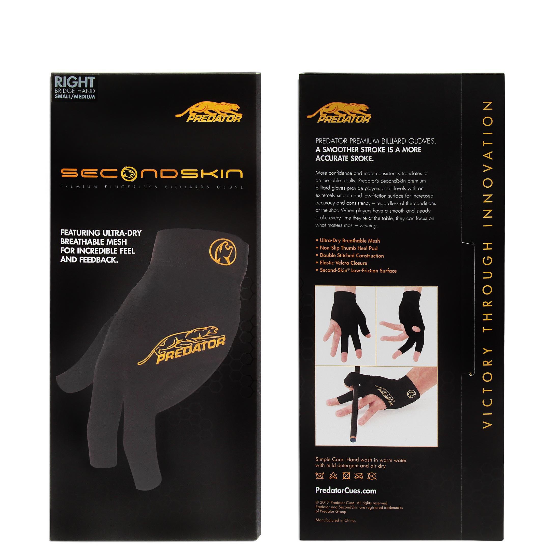 Перчатка Predator Second Skin Black/Yellow правая (для левши) L/XL