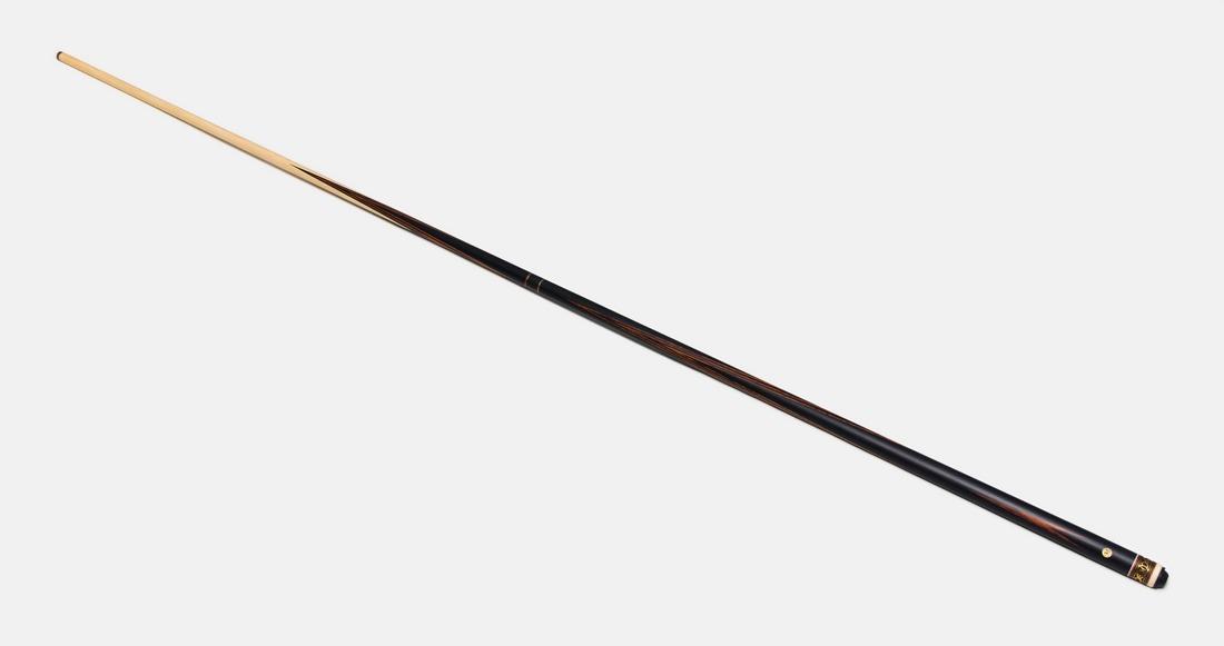 Бильярдный кий Николаенко 2х2 Черный граб-эбиара, длинный запил