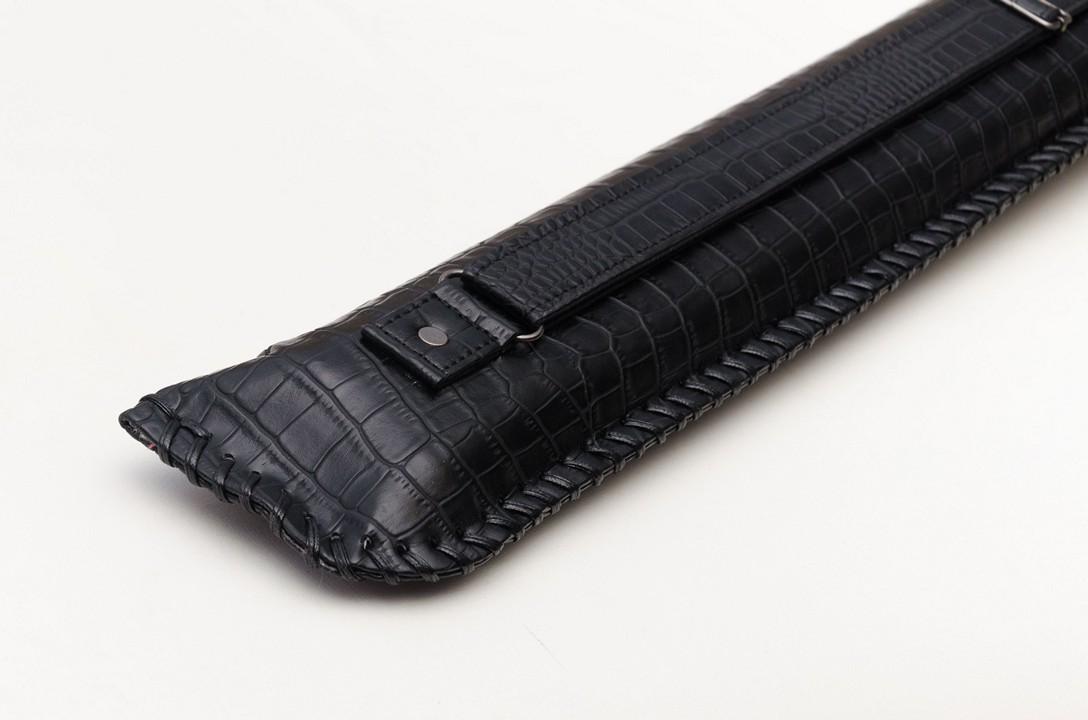 Чехол для кия Колчан черный крокодил