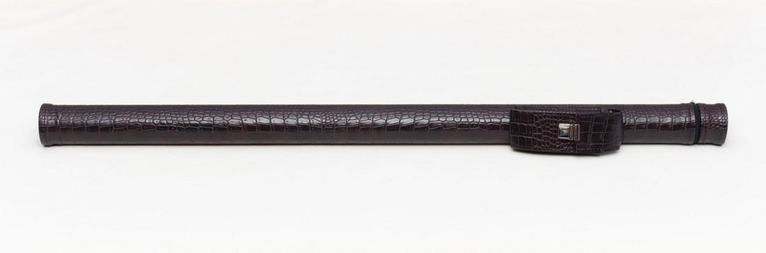 Тубус для кия из кожзаменителя Шоколад крокодил Замок