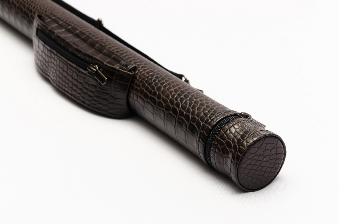 Тубус для бильярдного кия из кожзаменителя Шоколад крокодил Змейка