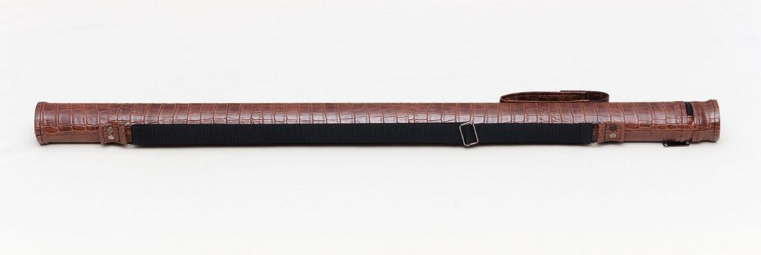 Тубус для бильярдного кия из кожзаменителя Экзотик крокодил Кнопка
