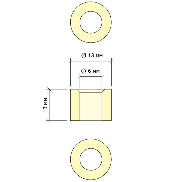 Фирулина для кия Longoni JBR Piramide ø13мм ø6мм H13мм